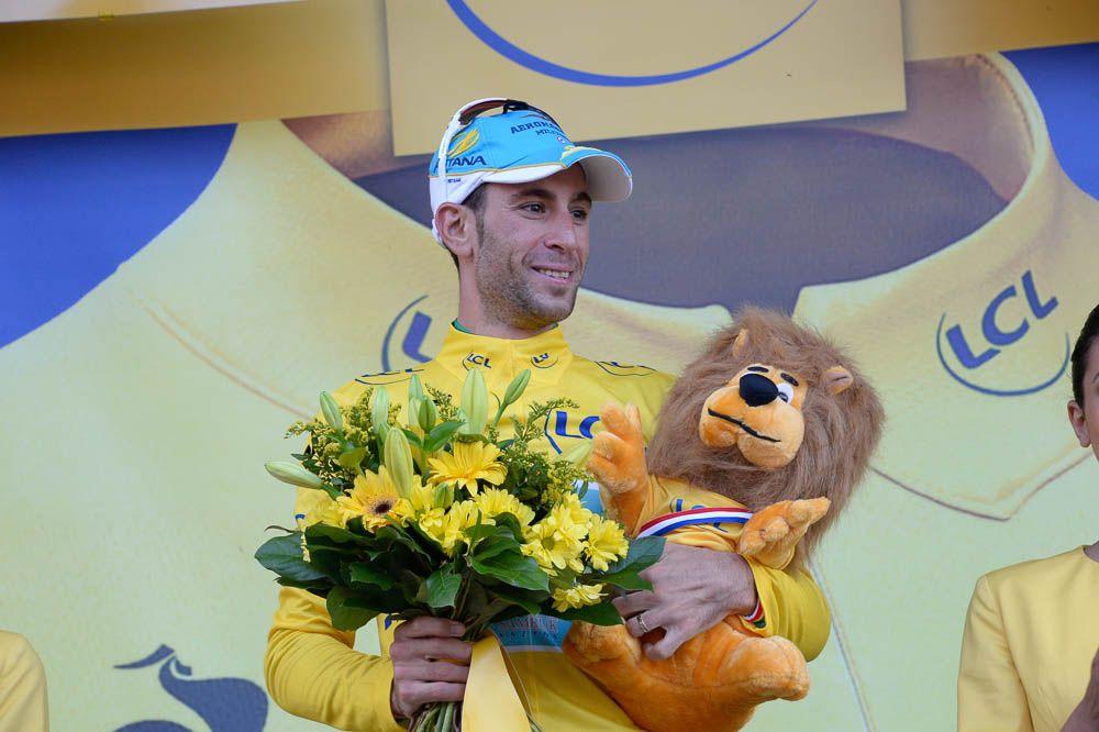 Tour de France 2014 - Etape 10 - Mulhouse / La Planche des Belles Filles / 14/07/2014 - Vicenzo NIBALI a récupéré le maillot jaune perdu la veille