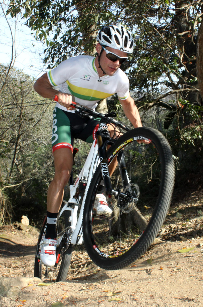 Kargo Pro MTB Team's Rourke Croeser make the South African stripes his own when he won the recent SA National Cross Country MTB Championships in Gauteng . - Kyle Gilham/ Gameplan Media