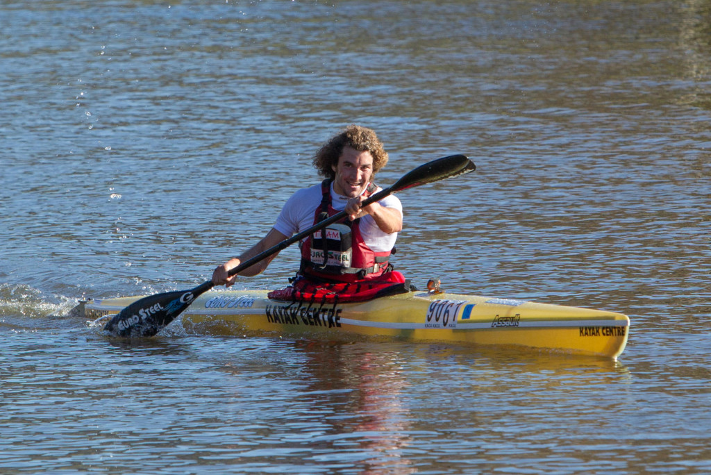KwaZulu-Natal's Andy Birkett (EuroSteel) shocked a few as he clinched victory in Tuesday's Berg River Canoe Marathon time trial.