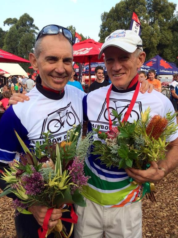 Cycle Lab Supercycling, powered by Toyota Club's Andrew McLean (left) and Greg Anderson both secured Master Marathon World Championships titles in their respective age categories in Pietermaritzburg at the weekend.