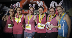 The Totalsports Ladies Race supports PinkDrive, a Public Benefit Organisation (PBO) that is committed to improving breast cancer awareness, education, and providing and offering services to women across South Africa.  Runners taking part in the Totalsports Ladies Race in Johannesburg and Stellenbosch on Saturday, 09 August 2014 are encouraged to show their support by dressing in pink.  Photo Credit ~ Cherie Vale / NEWSPORT MEDIA