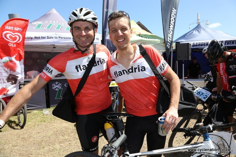 (From left) Steven Dimond and Edrich Fivaz to take on next year's Absa Cape Epic.