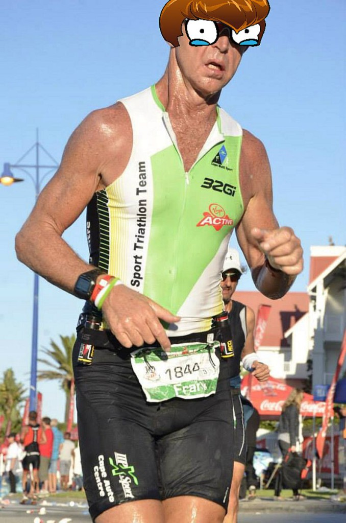 Frank Smuts during the 2014 Ironman South Africa