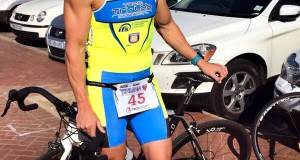 Donavan Geldenhuys ready for the Tinman Triathlon 2014, presented by Triathlon Plus and 32Gi