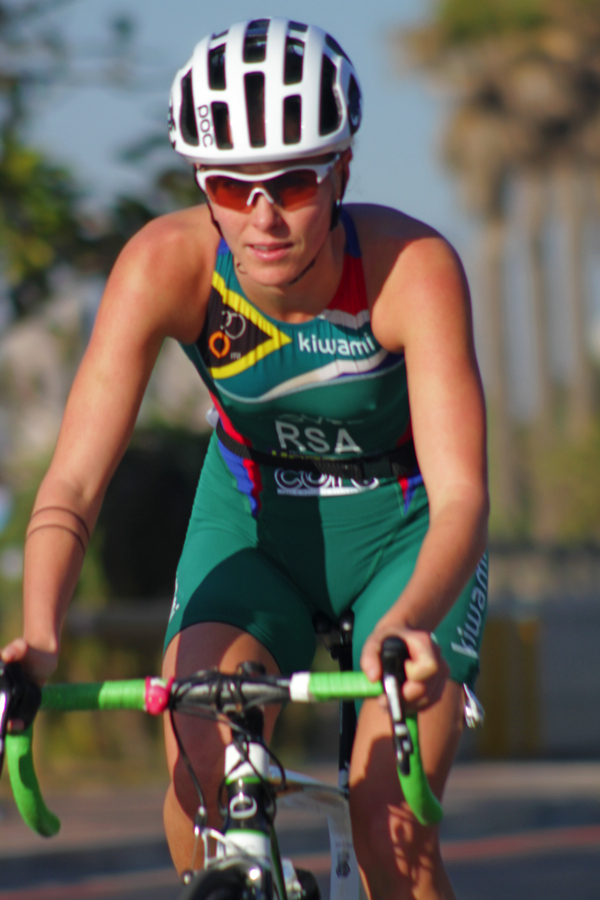 POC sponsored triathlete, Tayla Glover in action.
