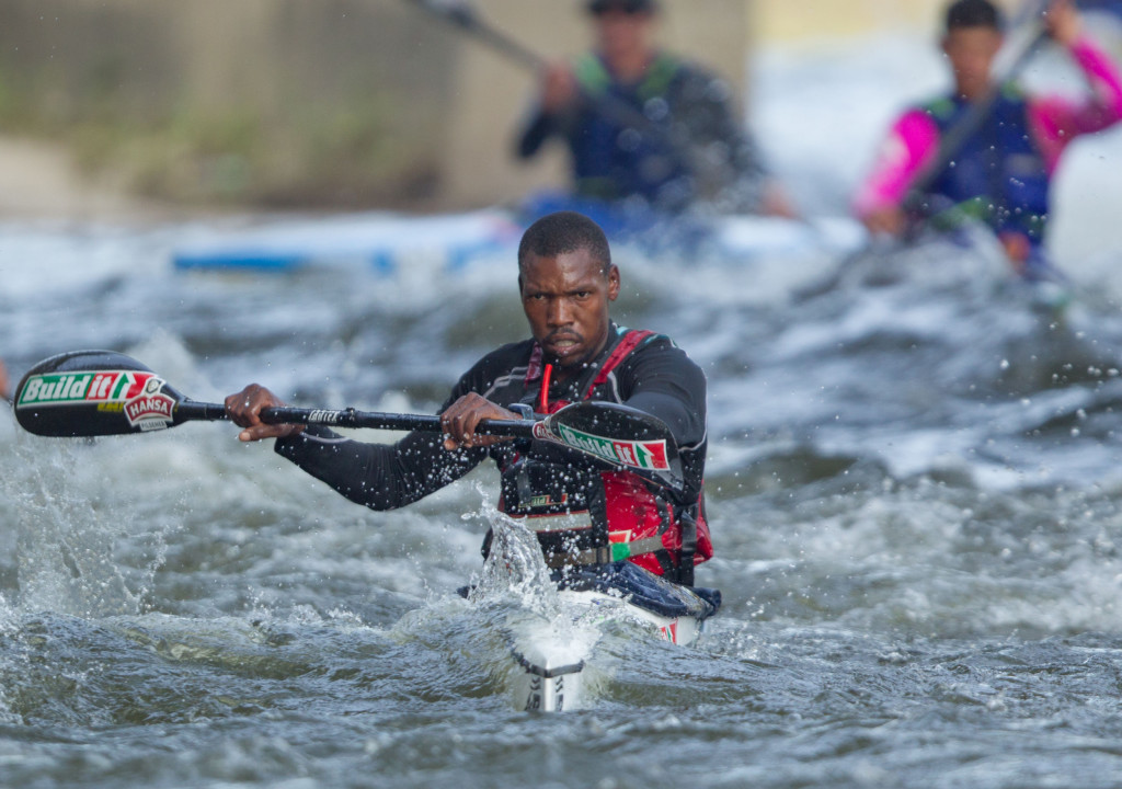 Former Computershare Change a Life Academy member Thulani Mbanjwa showed the next generation of the Valley of a Thousand Hills progamme's squad the way as he finished tenth in the recent Berg River Canoe Marathon in the Western Cape. - John Hishin/ Gameplan Media