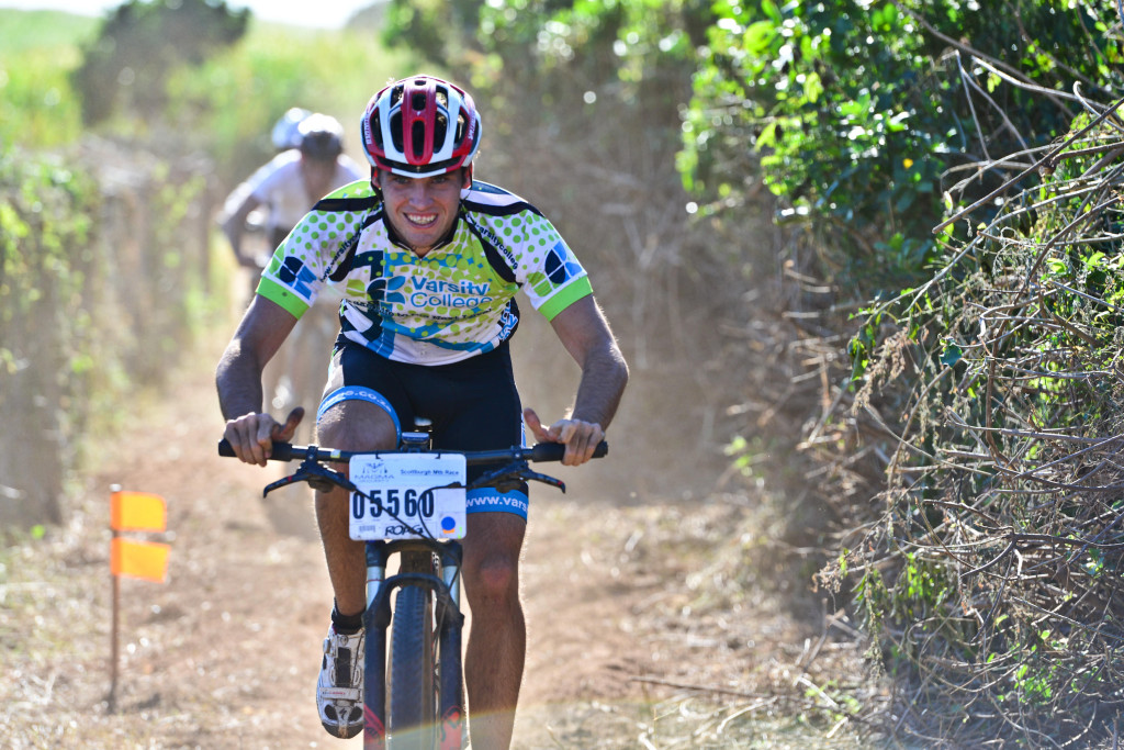 Men's defending champion Evan van der Spuy (Varsity College) will be hard pressed to defend his men's title at the Scottburgh MTB Race presented by Sappi on Sunday as the likes of Quattro's Tyron Bird and Thule's Tyronne White look to spoil his show.