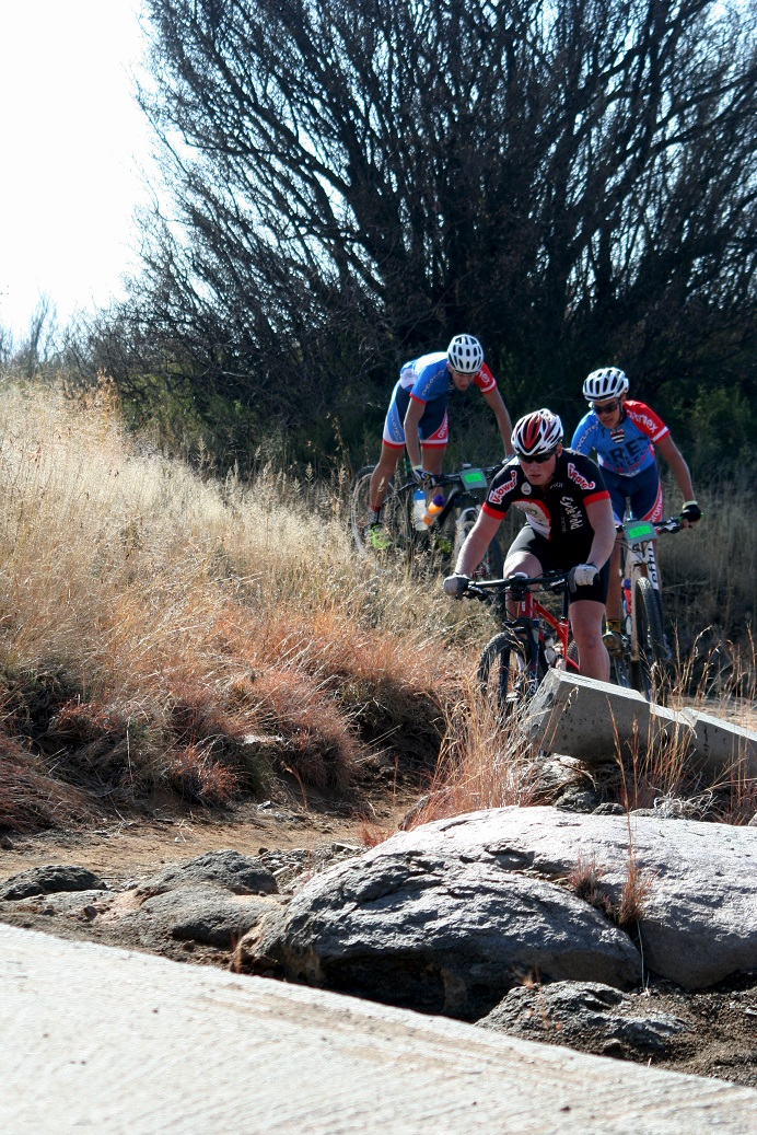 The youngsters hitting the single track - Photo supplied