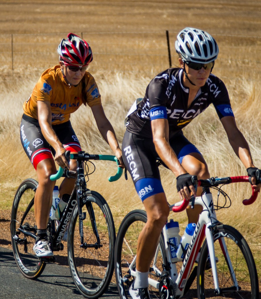 Bestmed-ASG rider Juanita Venter (left), seen here in action during the Bestmed Tour de Boland, will take on the world's best veteran women at the UCI Amateur Road World Championships in Ljublijana, Slovenia, from August 27. Photo: Capcha Photography