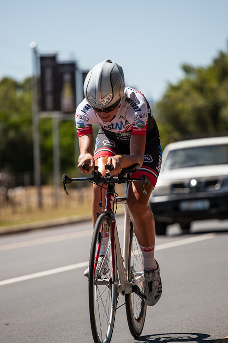 Bestmed-ASG rider Juanita Venter is the new time-trial world champion in the 35 to 39 age category. She won gold at the UCI Amateur Road World Championships in Ljubljana, Slovenia, on Wednesday. Photo: Capcha