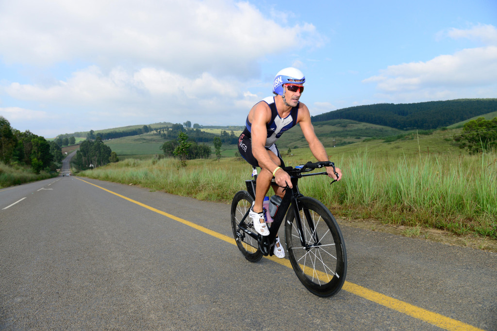 Stuart Marias from CT winning the Ultra Triathlon in March 2014