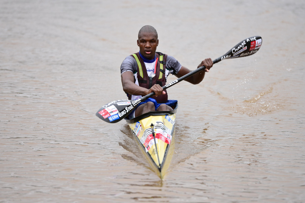 Current Dusi Canoe Marathon K2 champion Sbonelo Khwela has battled at the Hansa Fish River Canoe Marathon in the past and is hoping that he can break into the top 10  - Darren Goddard/ Gameplan Media