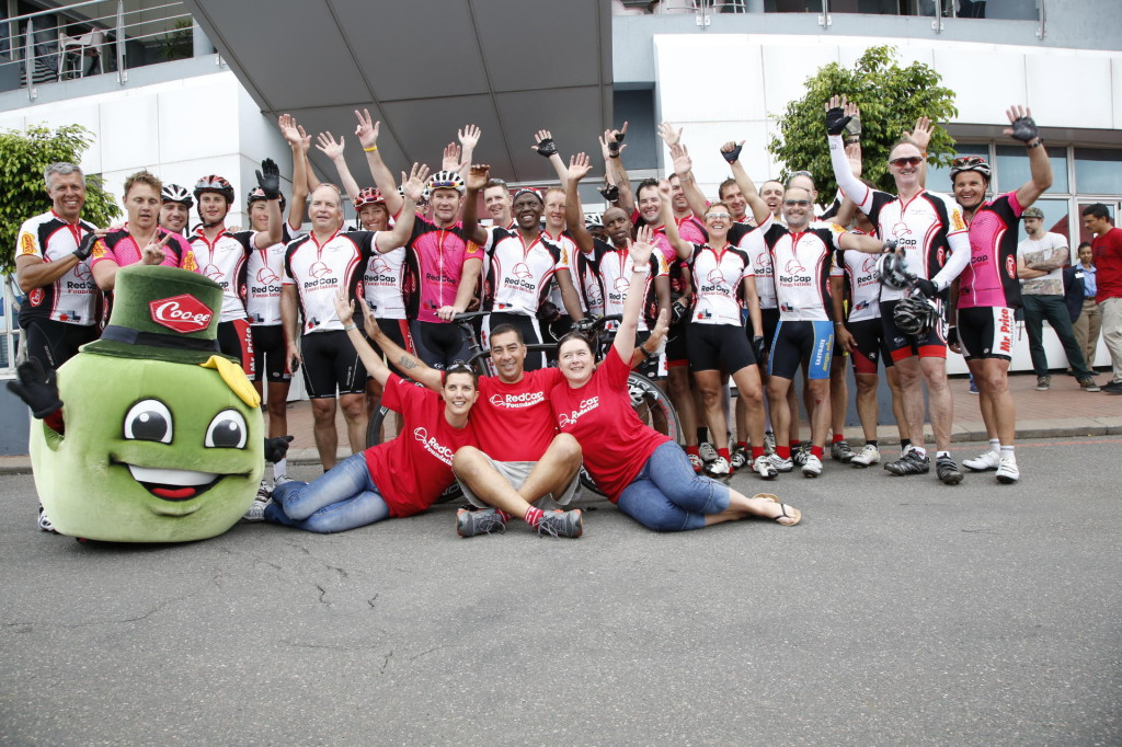 The 640km Ride for RedCap ended in Durban last year raised over R75,000 was raised for the MRP Foundation last year which will go the Foundation's Jumpstart programme to assist unemployed youth with work experience in the retail and manufacturing sectors.  - Pierre Tostee/ MRP Foundation Communications
