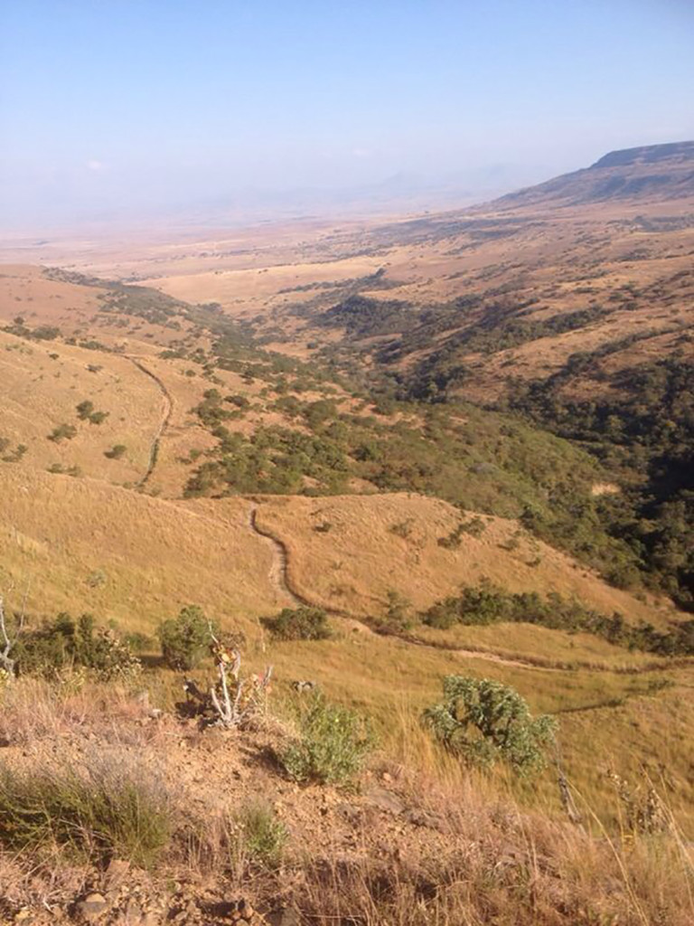 The FedGroup Berg & Bush mountain bike stage race will feature a brand-new drop off the Drakensberg escarpment when it starts near Sterkfontein Dam on October 10. Photo: Supplied