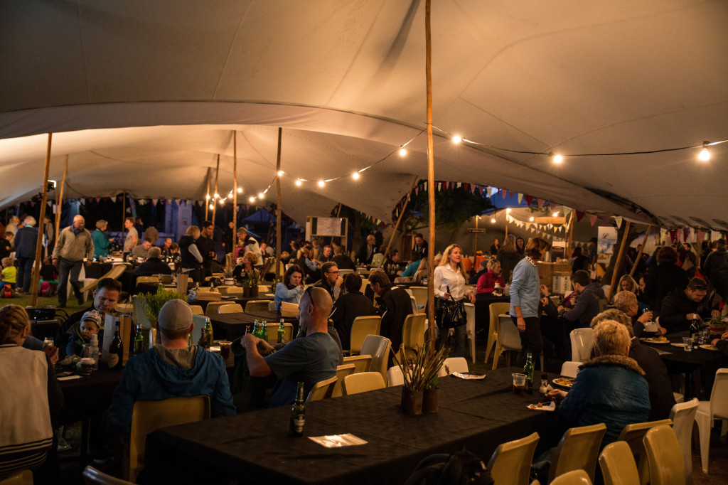 The marquee tent played host to the race village and showed off with fantastic character every day.