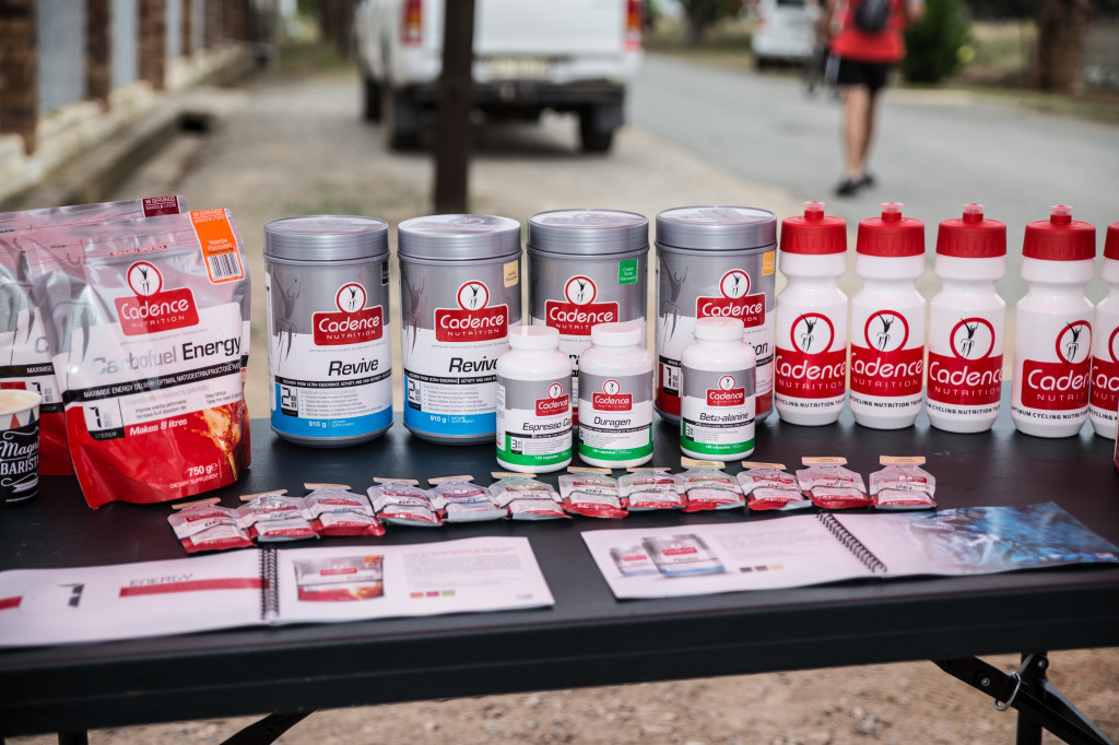 Cadence Nutrition provided us with all the necessary nutrition for the weekend, on route and also post race.