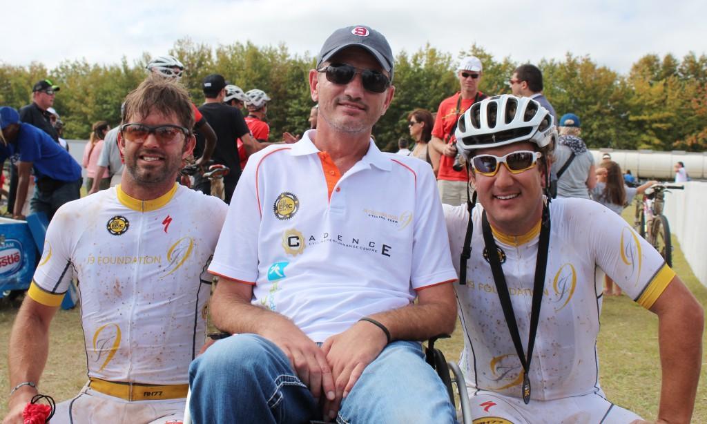 Seen here (from left to right):   Brendan Snyman, Joost van der Westhuizen and Dirk Kotze.  Photo Credit:  Helina Stoltz