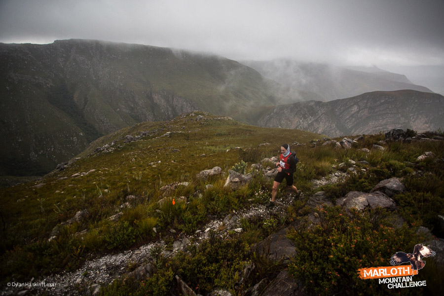 Runners face adverse conditions during the Marloth Mountain Challenge at Swellendam. Image by Dylan Haskin