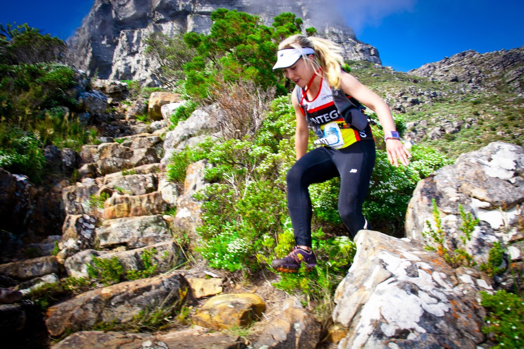 Marie Wessels, Liandi van der Westhuizen and Danette Smith from Team Contego won the Table Mountain Challenge Team Relay Photo credit: Govan Basson