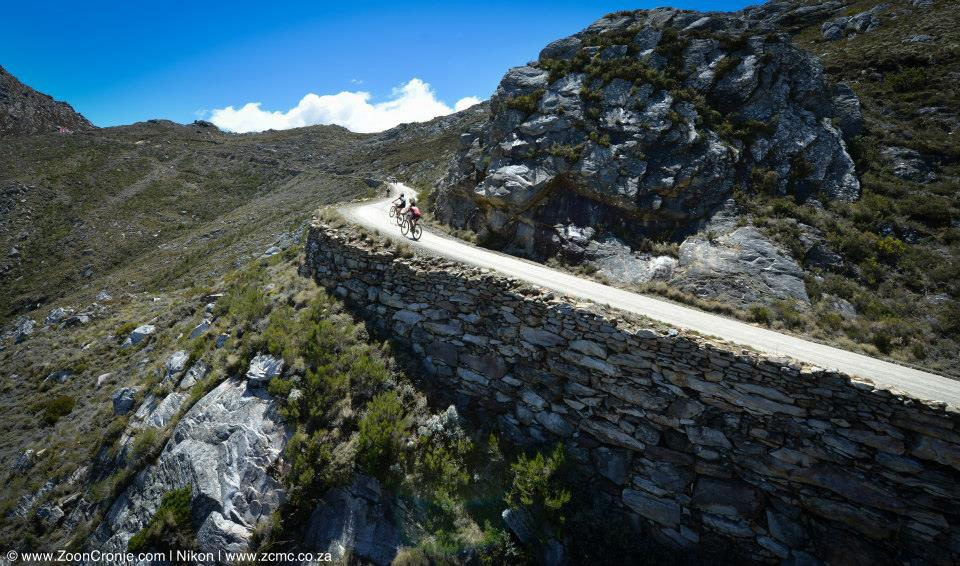 The Swartberg Pass, an 11-kilometre, 1100-metre out-of-category climb, will once again be a key feature of the 2014 Bridge Cape Pioneer Trek international mountain bike stage race in South Africa next month. Photo credit: Zoon Cronje/Nikon/Xtremedia