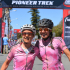 Catherine Williamson (left) and Alice Pirard celebrate their overall women's category victory at the 2014 Bridge Cape Pioneer Trek. Photo credit: Zoon Cronje/Nikon/Xtremedia