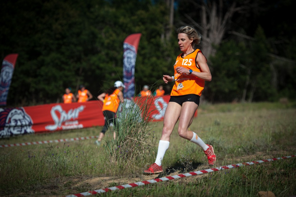 Seen here: Top SA trail runner Chantel Nienaber claimed a long overdue victory in the women's IMPI Elite Race at the picturesque Lievland Wine Estate (Stellenbosch) on Sunday, 19 October 2014 in an impressive time of 02hours36minutes23seconds.  PHOTO CREDIT:  Cherie Vale / NEWSPORT MEDIA