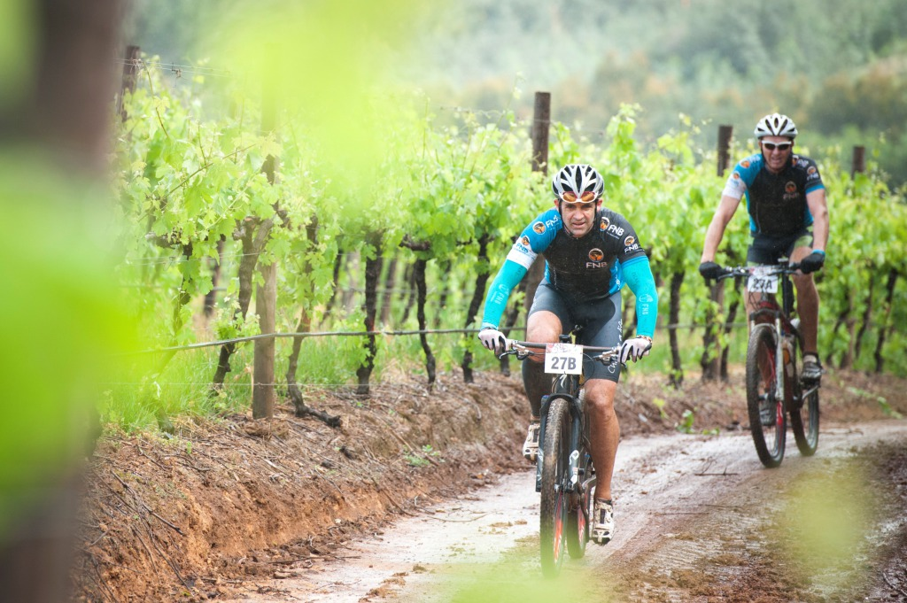 Seen here:  Riders in action during the 2013 FNB Wines2Whales MTB Events.  Photo Credit:  Cherie Vale / NEWSPORT MEDIA
