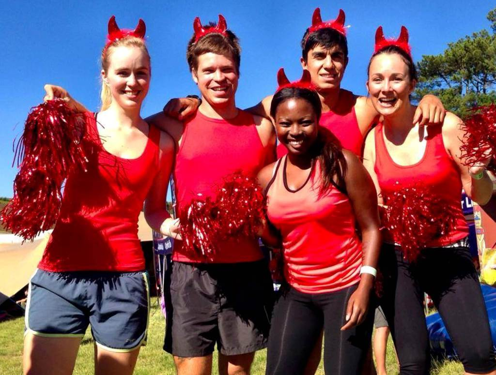 Seen here (from left to right):  Sophie Picton, Matt Naude, Nambitha Ben-Mazwi, Maximiliano Perez and Angel Campey in action at the IMPI Challenge earlier this year.