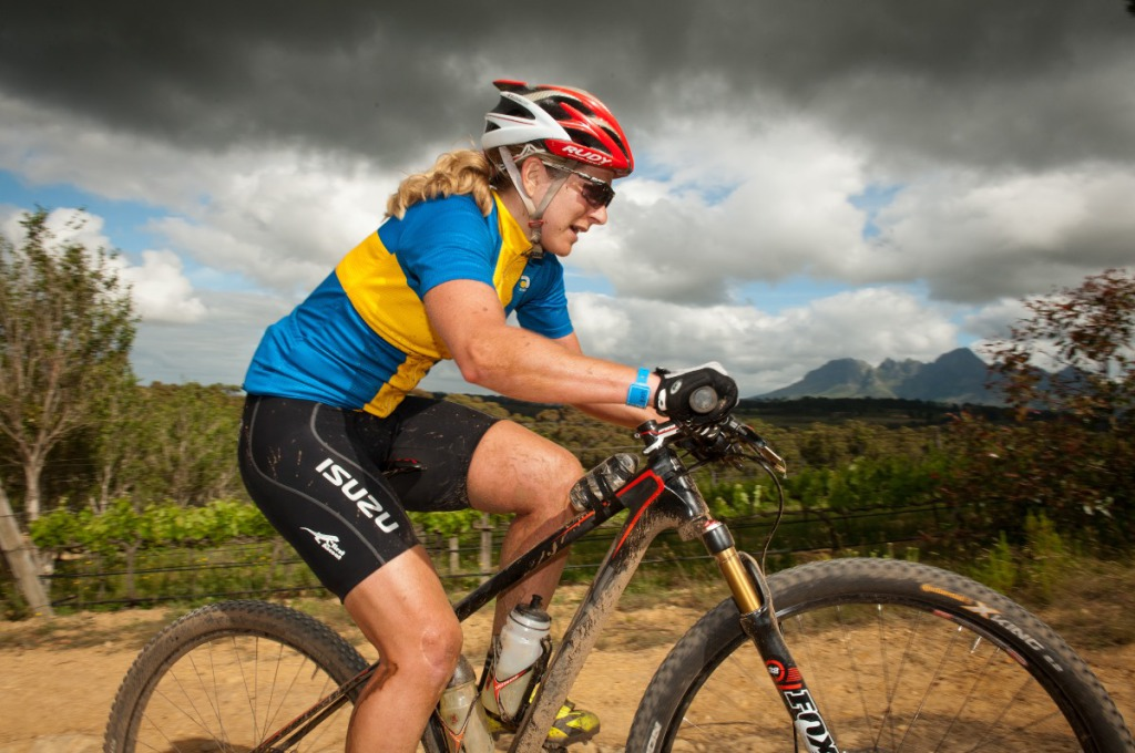 Seen here:  Jennie Stenerhag during the 2013 FNB Wines2Whales MTB Race.  Photo Credit:  Cherie Vale / NEWSPORT MEDIA