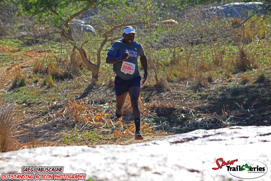 Owen Bengo on his way to victory at the Spur KZN Trail Series. Image by Greg Labuscagne