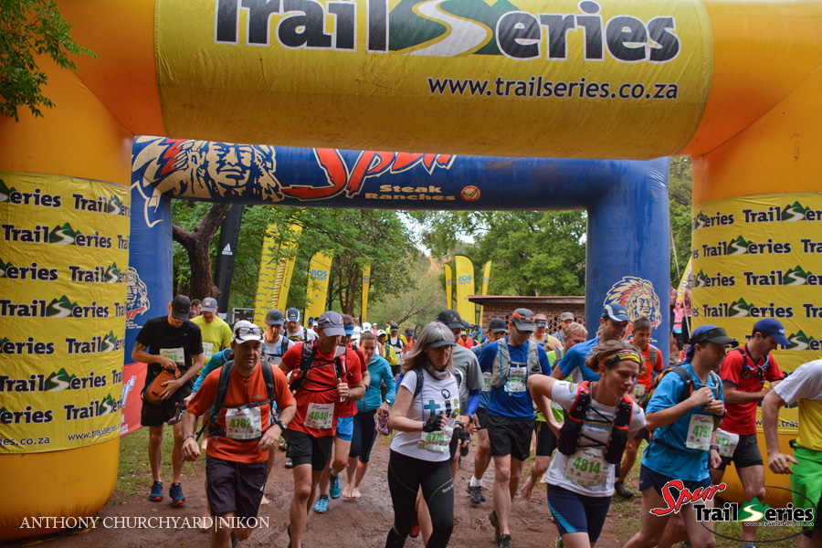 Runners at race 1 of the Spur Gauteng Summer Trail Series™ 2014. Image by Anthony Churchyard