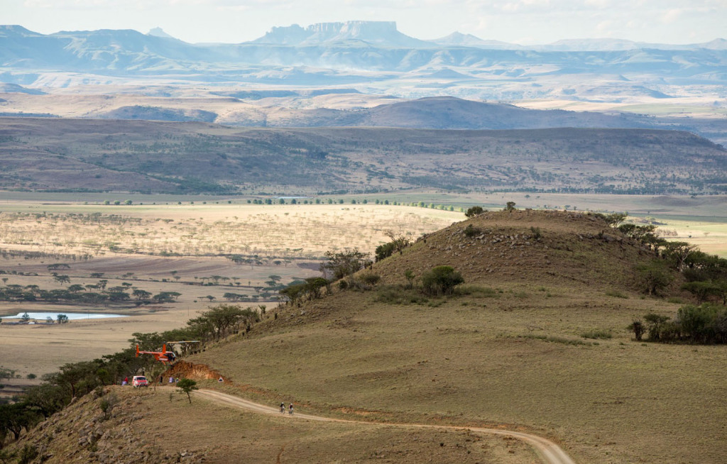 "Participants in this year's FedGroup Berg & Bush two-day race took on a ""race within a race"" during the Subaru Battle of Spioenkop in the Central Drakensberg on October 18. Photo: Nik Muzik"