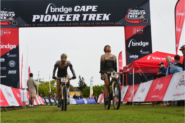 Tim Bohme and Simon Stiebjahn claim the stage win and the overall lead on Stage 4 of the Bridge Cape Pioneer Trek. Photo credit: Zoon Cronje/Nikon/Xtremedia