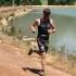 Matt Daneel finishing his run at the Slanghoek Mountain Bike Triathlon 2013