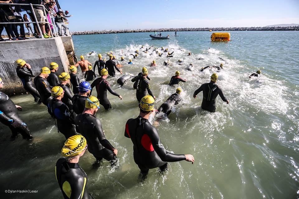 Start of the 800m swim.