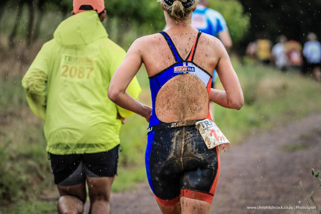 I hand washed my trisuit after the race. The amount of mud that came out was amazing!