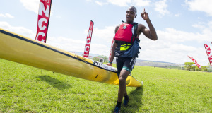 Umpetha Challenge winner Sbonelo Khwela (EuroSteel) will be hoping for a solid start across Albert Falls Dam and fast portage in order to be in the mix to claim a maiden K1 title in Sunday's Ozzie Gladwin Canoe Marathon presented by Parklane SuperSpar. - Anthony Grote/ Gameplan Media