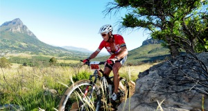 Conrad Stoltz in action during the 2013 Pennypinchers Origin Of Trails 2-Day Mountain Bike (MTB) Stage Race in Stellenbosch.  PHOTO CREDIT:  Jetline Action Photo