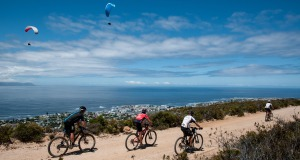Seen here:  Riders in action during Stage Three of the FNB Wines2Whales MTB Ride on Wednesday, 05 November 2014.  Photo Credit:  Cherie Vale / NEWSPORT MEDIA