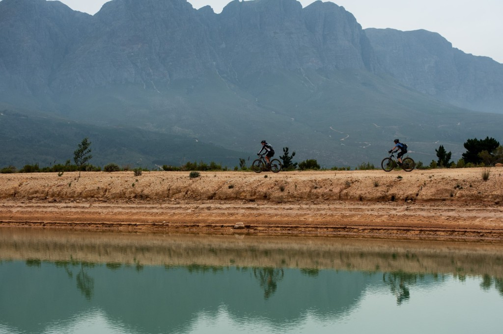 Seen here:  Riders enjoying the Stage One Route at the 2014 FNB Wines2Whales MTB Ride on Monday, 03 November 2014.  Photo Credit:  Cherie Vale / NEWSPORT MEDIA