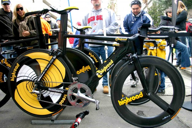 Mark Cavendish's Highroad time trial bike