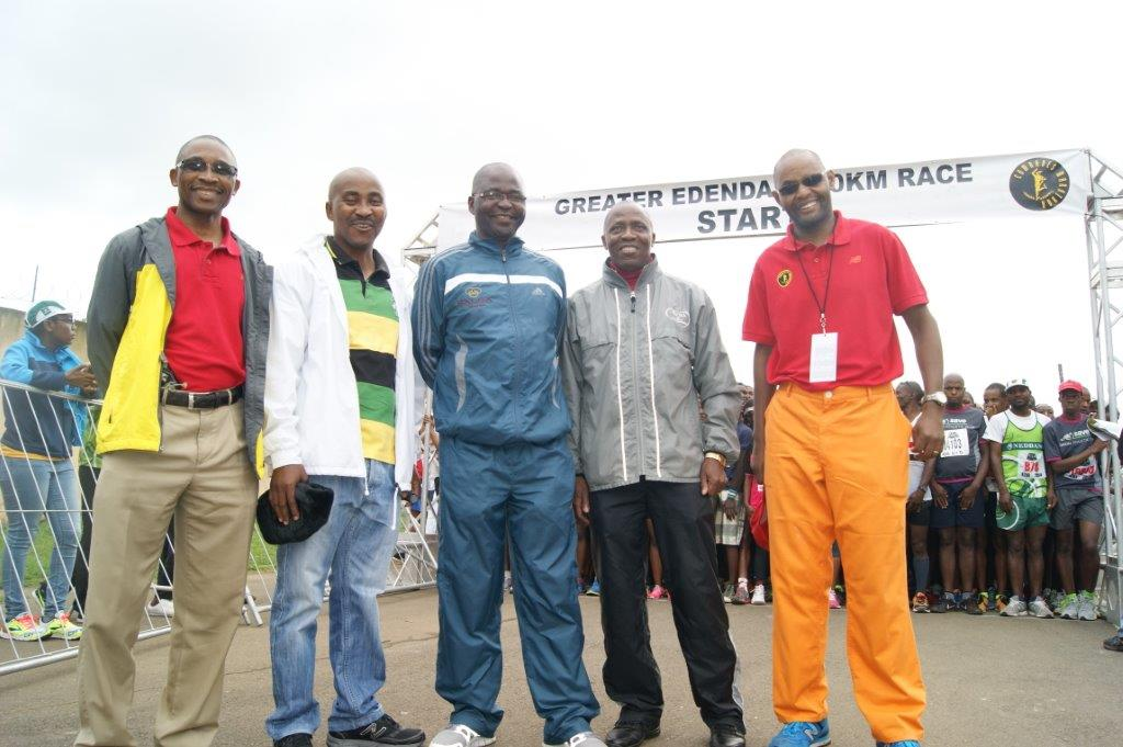 CMA Board Member Celi Makhoba, UMDM Sports Administrator Nkosinathi Hlongwa, Msunduzi Mayor Chris Ndlela, CMA Board Member Sifiso Nzuza, CMA Chairman Macdonald Chitja - Photo supplied