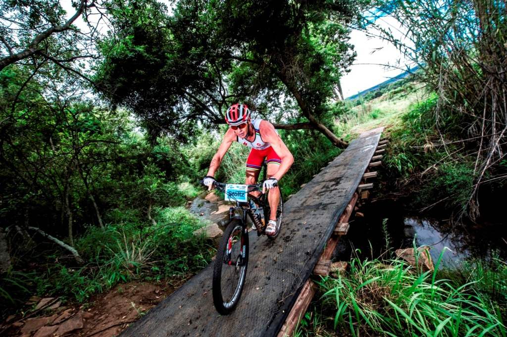 Seen here:  Conrad Stoltz in action at the 2013 TOTALSPORTS XTERRA presented by REHIDRAT® SPORT.  PHOTO CREDIT:  Volume Photography