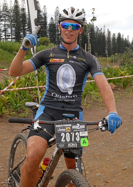 Tyron Bird raced to victory to take his maiden win at the Bestmed Ballito Expedition which took place on the KwaZulu-Natal North Coast on Saturday. Photo: Jetline Action Photo
