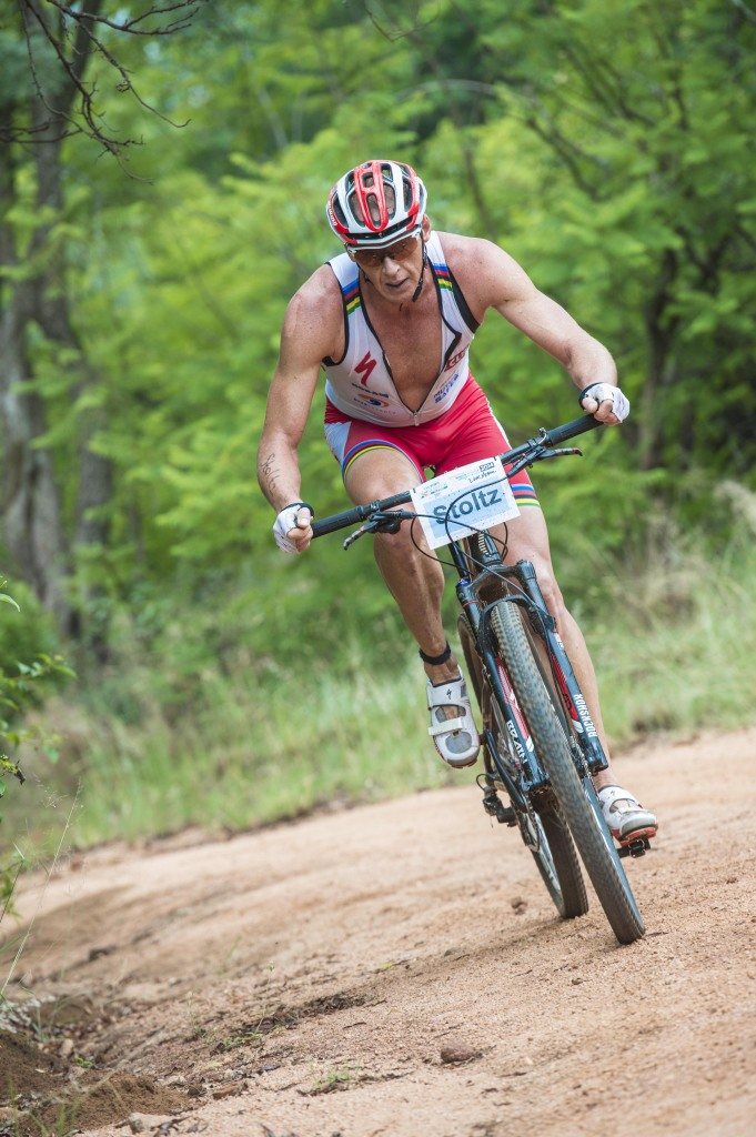 Seen here:  Conrad Stoltz in action at the 2014 TOTALSPORTS XTERRA Buffelspoort presented by REHIDRAT® SPORT.  Photo Credit:  Volume Photography