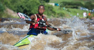 Banesti Nkhoesa of Martin Dreyer's Computershare Change a Life Academy finished seventh overall in this year's Dusi Canoe Marathon, was the second under-23 across the line  - Anthony Grote/ Gameplan media