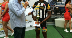 Metkel Eyob: Metkel Eyob of the MTN-Qhubeka feeder team showed good early season form as he soloed to victory in the Action Ford Berge en Dale Classic, presented by Optimum Financial Services, near Krugersdorp on Saturday. Photo: Supplied