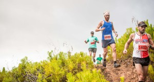 Seen here:  Andre Calitz and Morne Van Greunen in action at the PUMA Trail Run in Grabouw on Saturday, 21 February 2015.  PHOTO CREDIT:  Volume Photography