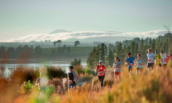 Trail running enthusiasts in action.  PHOTO CREDIT:  Cherie Vale / NEWSPORT MEDIA