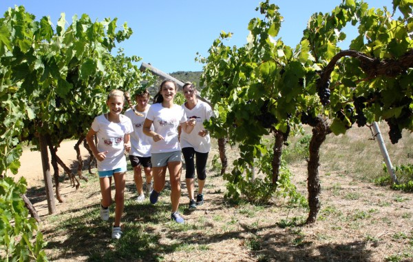 Run The Vines line-up from the left are Kayla Samuel, JB De Bruyn, Larissa Pepler and Natasha Stoumann-Jackson.